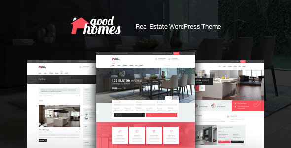 Good Homes 1.3.1 - A Contemporary Real Estate WordPress Theme