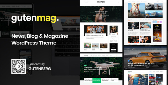GutenMag 1.1.3 - Gutenberg WordPress Theme for Magazine and Blog