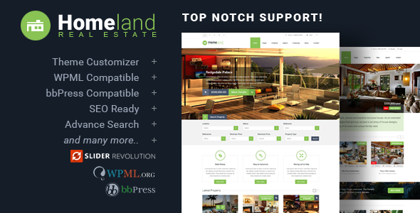 Homeland 3.2.6 - Responsive Real Estate Theme for WordPress