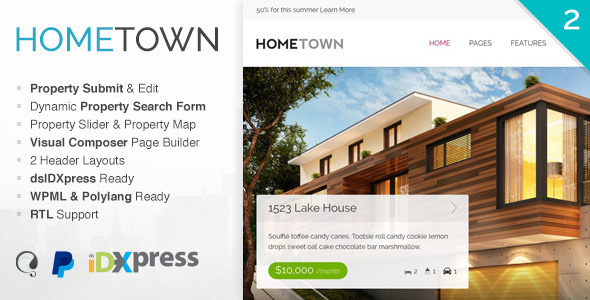 Hometown 2.8.2 - Real Estate WordPress Theme