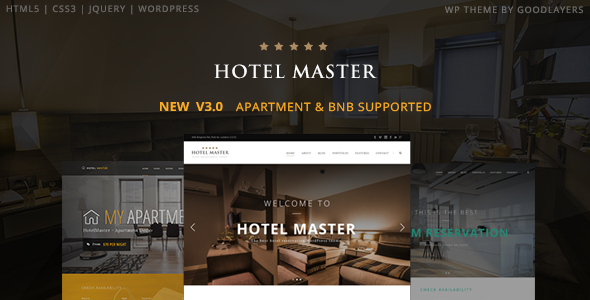 Hotel Master 3.11 - Hotel WordPress Theme For Hotel Booking
