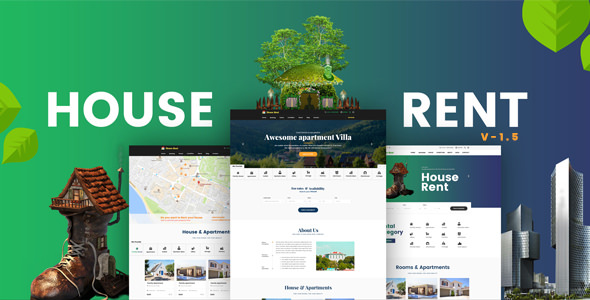 HouseRent Multi Concept Rental WordPress Theme