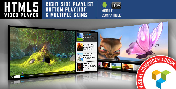 HTML5 Video Player Visual Composer Addon