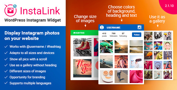 Instagram Widget 2.1.10 - Instagram for WordPress