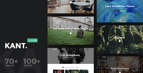 Kant 1.0.8 - A Multipurpose WordPress Theme for Startups