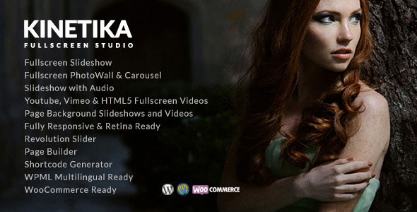 Kinetika 4.6.1 - Fullscreen Photography Theme