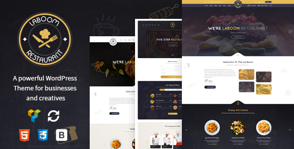 La Boom 2.2 - Food & Restaurant Bistro WordPress Theme