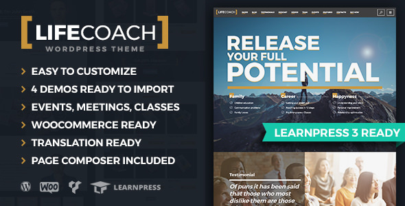 Life Coach 2.1.6 - WordPress Theme
