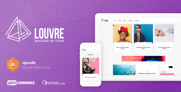 Louvre 1.0.8 - Minimal Magazine and Blog WordPress Theme