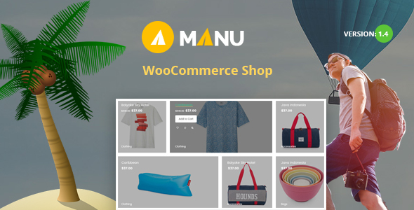 Manu 1.4 - Travel Store WooCommerce WordPress Theme