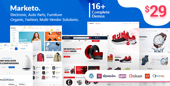 Marketo 1.3.10 - ECommerce & Multivendor WordPress Theme