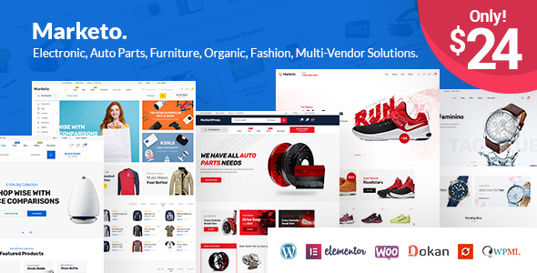 Marketo 1.3.3 - ECommerce & Multivendor WordPress Theme