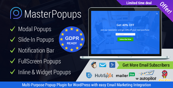 Master Popups 3.5.3 Nulled - Popup Plugin for WordPress