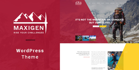 Maxigen 1.2.3 - Hiking & Outdoor WordPress Theme