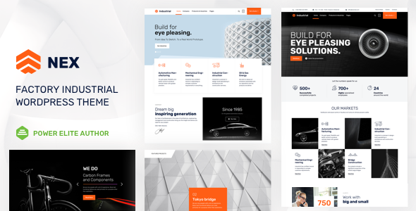 Nex 3.0 - Factory & Industrial WordPress Theme