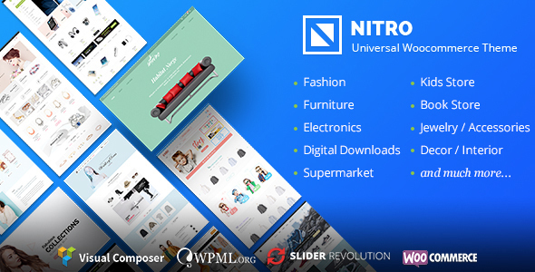 Nitro 1.7.8 Nulled - Universal WooCommerce Theme from Ecommerce
