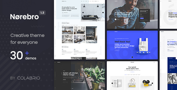 Norebro 1.3.8 - Creative Multipurpose WordPress Theme