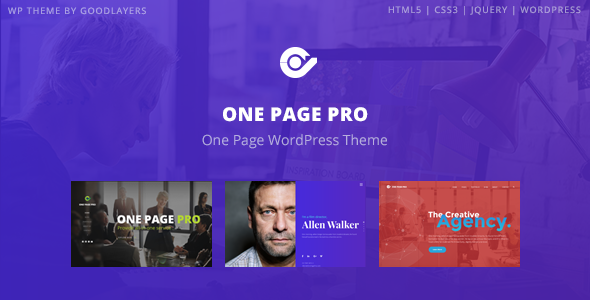 One Page Pro Multi Purpose OnePage WordPress Theme