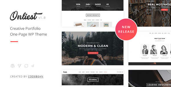 Onliest Creative Portfolio One Page WordPress Theme
