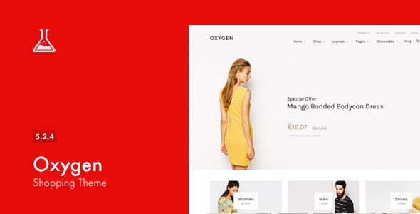 Oxygen 5.2.4 - WooCommerce WordPress Theme