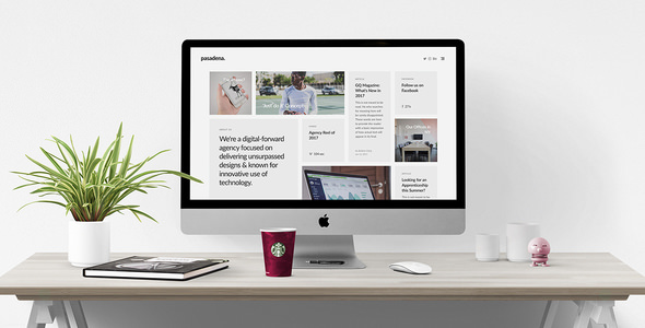 Pasadena 1.0 - Contemporary Portfolio WordPress Theme
