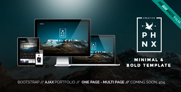 Phoenix 1.5 - WordPress Minimal Multipurpose Portfolio