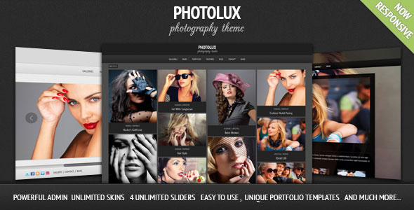 Photolux 2.3.9 - Photography Portfolio WordPress Them