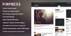 PinPress The New Blogging Experience