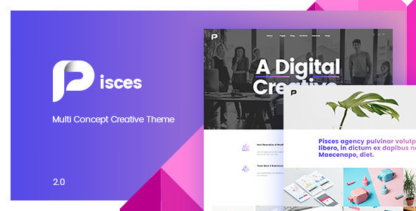 Pisces 2.0.3 - Multi Concept Creative WordPress Theme