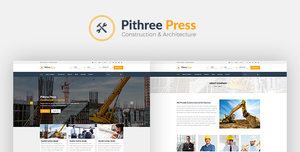 Pithree Construction & Building WordPress Theme