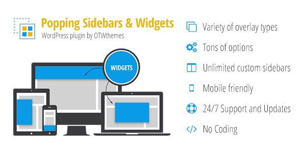 Popping Sidebars and Widgets for WordPress v2.16