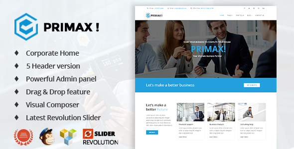 Primax 1.2 - Corporate Business WordPress Theme