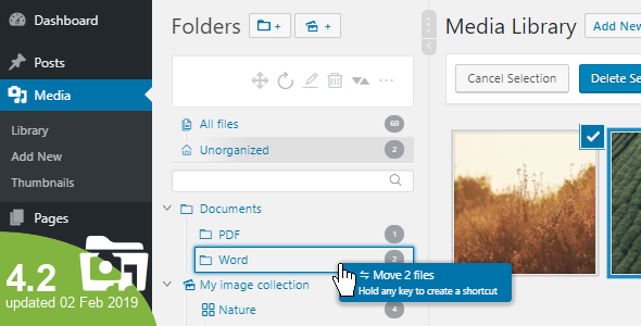 Real Media Library 4.2.0 - Media Categories / Folders File Manager