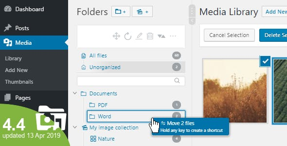 Real Media Library 4.5.0 - Media Categories / Folders File Manager