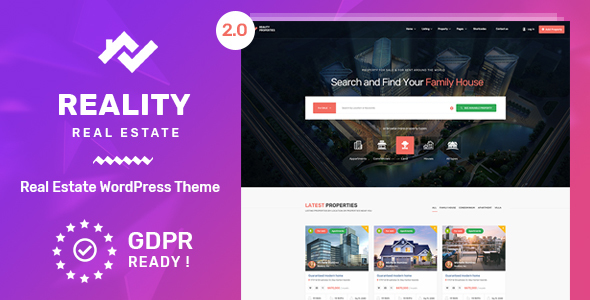Reality 2.1.0 - Real Estate WordPress Theme