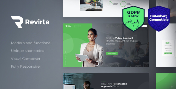 Revirta 1.2 - Virtual Assistant WordPress Theme