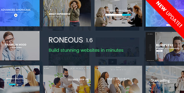 Roneous 1.6.2 - Creative Multi-Purpose WordPress Theme