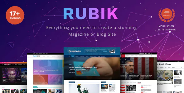 Rubik 1.1 - A Perfect Theme for Blog Magazine Website