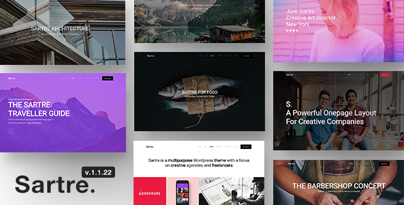 Sartre 1.1.22 - Responsive Multipurpose Theme for Creatives