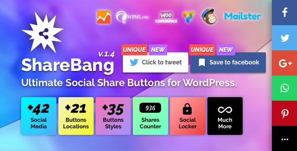 ShareBang 1.4 - Ultimate Social Share Buttons