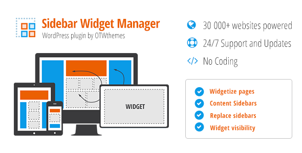 Sidebar & Widget Manager for WordPress