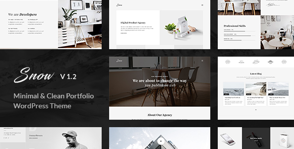 Snow 1.2.0 - Minimal & Clean WordPress Portfolio Theme