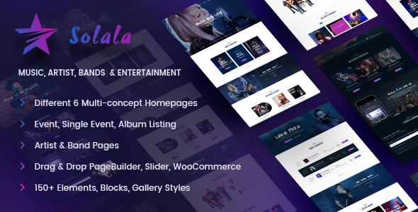 Solala 4.9 - Music WordPress Theme