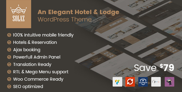 Solaz 1.1.2 - An Elegant Hotel & Lodge WordPress Theme