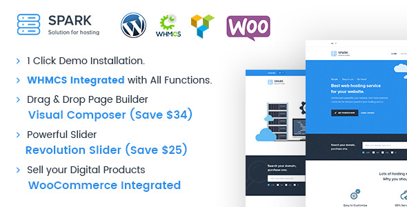 Spark 2.2.2 - Responsive WHMCS Hosting WordPress Theme