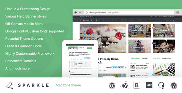 Sparkle 2.3 - Outstanding Magazine theme for WordPress