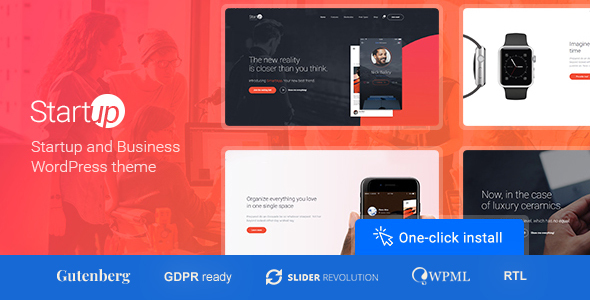Startup Company 1.0.8 - WordPress Theme for Business & Technology