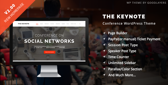 The Keynote Conference / Event / Meeting WordPress Theme