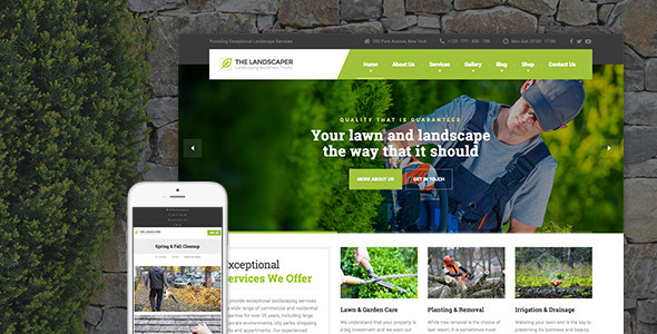 The Landscaper 1.6 - Lawn & Landscaping WP Theme