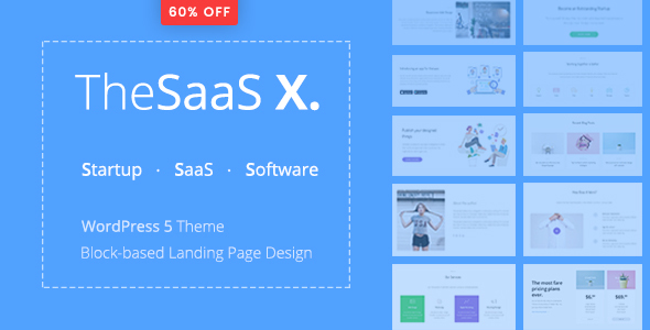 TheSaaS X 1.0.0 - Responsive SaaS, Startup & Business WordPress Theme